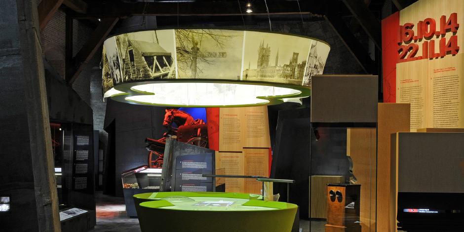 Bedruckte Lampenschirme von Erler+Pless Hamburg für Messen oder Ausstellungen