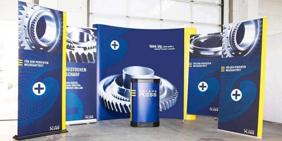 Rollups, Messewände und Media Theken von Erler+Pless Hamburg für Ihren Messeauftritt